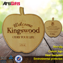 High quality absorbent wood placements & coasters