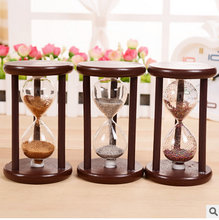 Vintage Hourglass Crafts Antique Style Sand Clock Calculagraph Brushing Make Tea Garden Ornaments Wood Saat Timer