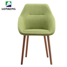 Cashmere fabric ergonomic upholstered dining room chair