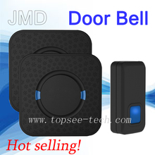 JMD Wireless Doorbell Operating at 1000 feet with 1 Plug-in Receiver CD Quality Sound and blue LED Flash