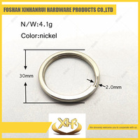 Factory price metal key ring 30mm ring for bag parts