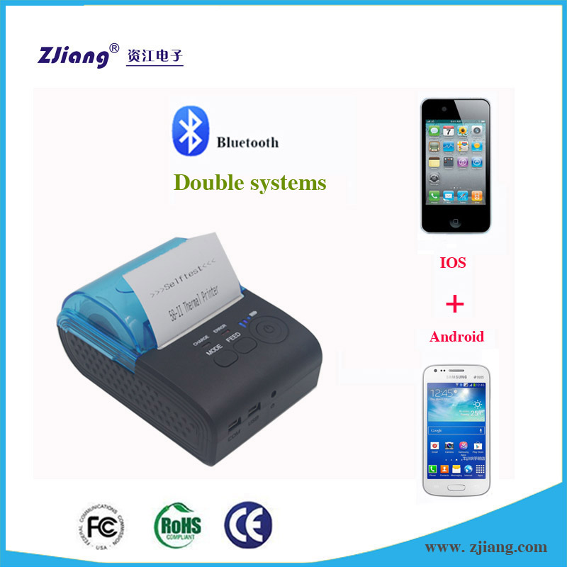 Portable Bluetooth Thermal Printer in Dubai Mobile Print with POS 58 Printer Thermal Driver for Samsung Mobile Phones/Huawei P9