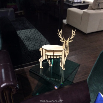 Wooden art mind DIY deer