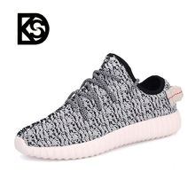 The latest sell like hot cakes high quality unisex popular fly breathable fabric yeezy casual shoes