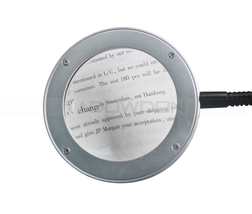 White Black Magnifying Lamp Led Light Night Reading Lamps