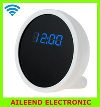 Full HD 1280 x 720 Alarm Clock WIFI Camera with Real Time View Function Cool Smartphone Wi-Fi Spy Monitor Clock