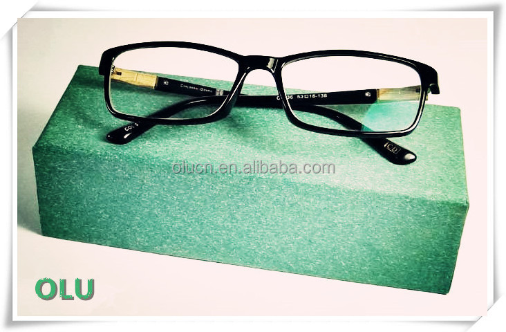 2016 Korea plastic and wood combined optical frames