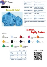 Hot sales Custom Logo print Jacket windbreaker with different color with bag