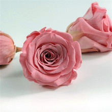 Hight End Square Pink Florist Preserved Fresh Rose Flower Box Cardboard Flowers Packaging Gift Box With Handle