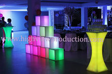 events props/ event theming deor/ illuminated LED ice bucket/luminous bucket /light-emitting ice pail/lighted open cube/