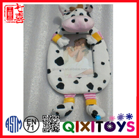 plush stuffed soft cow toy baby picture photo frame wholesale