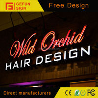 High luminated Outdoor hair salon sign