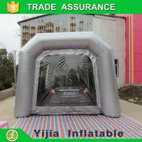 Mobile spray booth with best paint for automotive