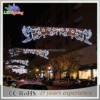 Outdoor Christmas Decorations Rope Lights Across Street Arch Light