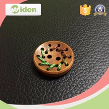 2015 hot selling Custom bulk decorative wooden buttons 40mm