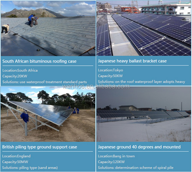 ground mount application and normal specification solar panel bracket