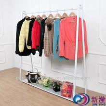 wrought iron shelf Clothes Stand metal clothe garment rack
