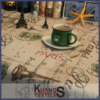 expensive western style printed beautiful square linen coffee tablecloth for restaurant cafe