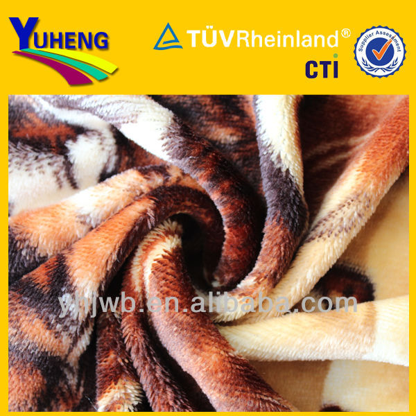 2013New Style Polyester Tiger Coral Fabric/Coral Blanket