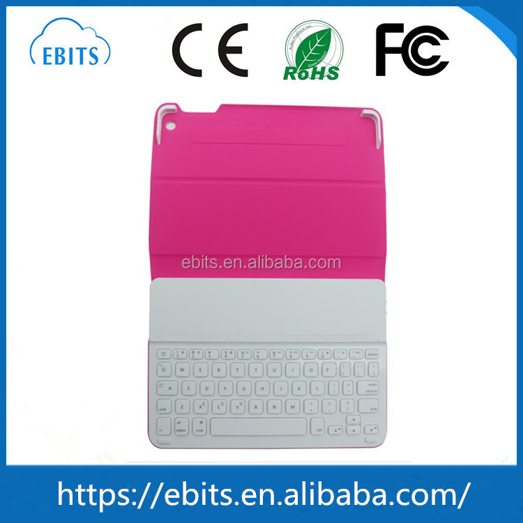 Better quality bluetooth 3.0 beautiful tablet pc leather keyboard for ipad air