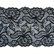 Lingerie Nylon Spandex Stretch Neck Cotton Lace Trim Design In Stock