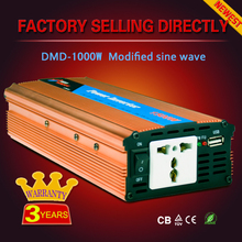 Off grid High frequency dc to ac power solar inverter 1000w 1200va 1500w 24v 220v for home use