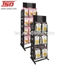 floor standing metal food display shelf/cookies display stand/ biscuits display shelf