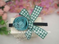 Hair Pins with Gingham Ribbons, Hair Barrettes, Hair Products