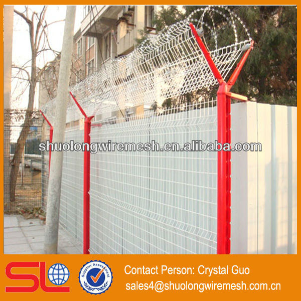 (Overseas standard !) ornamental double loop wire fence,double strand wire fencing