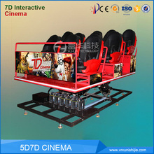 mobile 5d Cinema equipment Virtual Reality Simulation Rides Cinema Seat factory