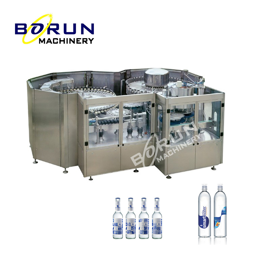 Turnkey Project Fully Automatic 3 In 1 Water Bottling Filling Machine Plant
