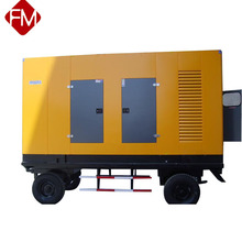Portable two wheel trailer 30kw soundproof cabinet generator