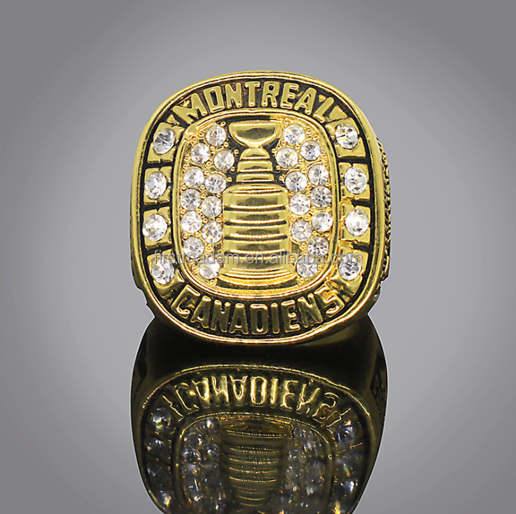 Wholesale NHL Ice Hockey 1945 Montreal Canada Championship Ring Size 11