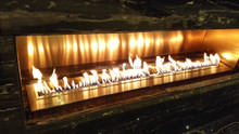 Architectural Structure Designed Elegant Fireplaces with stainless steel hearth