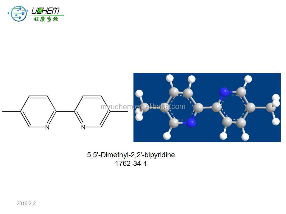 Bipyridine derivative dimethyl 5,5'-dimethyl-2,2'-bipyridine 1762-34-1 for sale