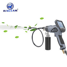 Car wash tool endoscope borescope for ac evaporator coil cleaning