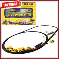 Construction electric toy train sets