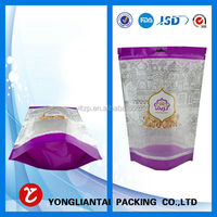 2015 Resealable Stand up Pouch sauce packaging bag Colorful Printed Plastic Bags made in china