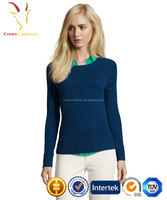 Cashmere Wool Blended Round Neck Sweater For Women