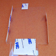 Single Sided Adhesive Thin Polycarbonate PC Film Die Cut backed with original 3m 9495LE tape