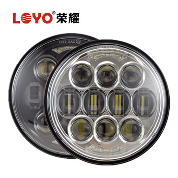 "LOYO Hot sell 80W Osram 5-3/4"" Motorcycle led headlight 5.75 inch led headlight for Harley"
