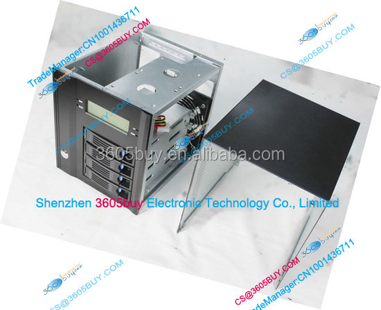 NAS Storage Hot swap server Network Chassis Aluminum alloy panel LCD screen ITX Board 4 Hard disk