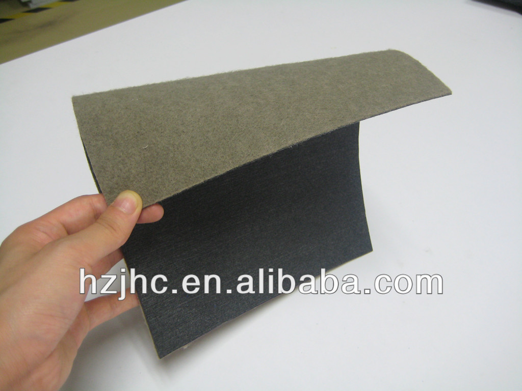 Laminated nonwoven polyester needle punched heat felt padded mat sheet/roll