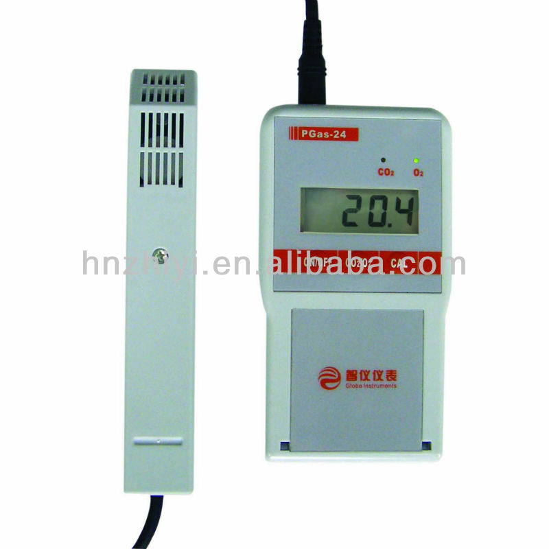 portable 2 in 1 gas detector for oxygen and carbon dioxide gases