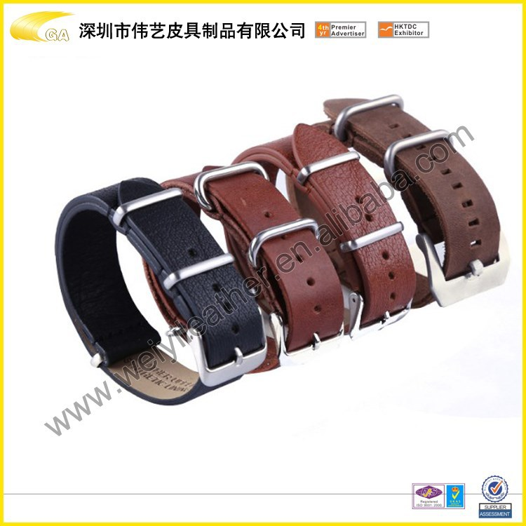 2015 Wholesale Fashion Charming Stainless Steel Buckle Integrated Custom Watch Bands Interchangeable Nato Watch Strap For Custom