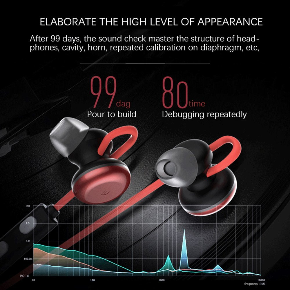LESIRI HI-FI Stereo Bluetooth Headphone Wireless Metal Magnetic Suction Earphones for Sports & Running Workout Noise Cancelling (1)