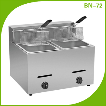 Stainless steel gas fryer machine high quality low price BN-72