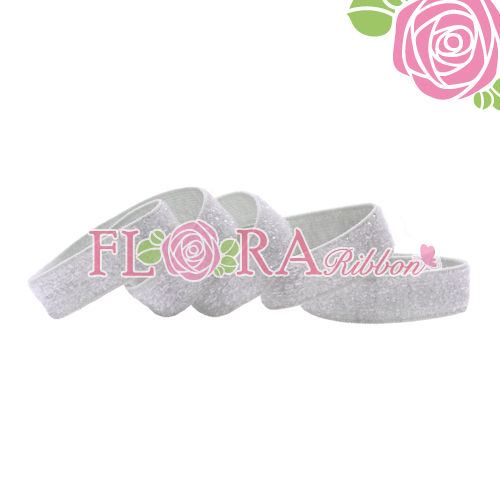 15mm Customer Color Metallic Velvet Elastic Ribbon