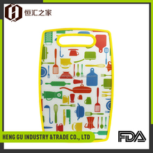 New and hot availability non-slip chopping board set pp index cutting boards