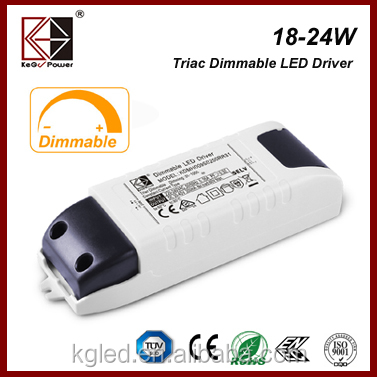 24W Triac Dimmable LED Driver with SAA UL for LED down light, LED panel light, LED track light